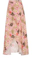 Miguelina Hibiscus Printed Asymmetric Wrap Skirt