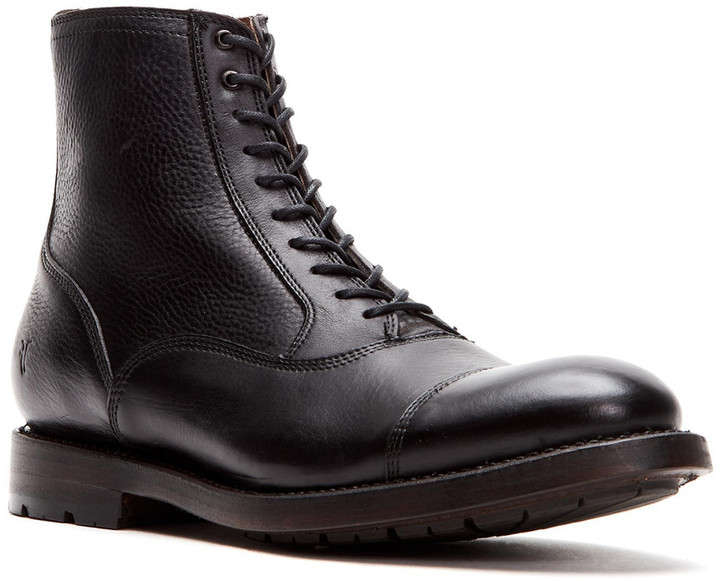Frye Bowery Bal Lace Up Leather Boot