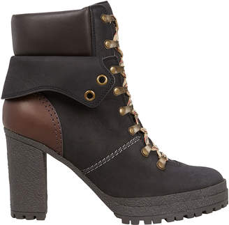 See by Chloe Suede Lace-Up Combat Boots