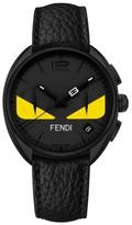 Fendi Bug Chronograph Leather Strap Watch, 40Mm