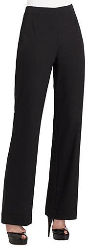 Lafayette 148 New York Studio Stretch Crepe De Chine Pants