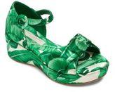 Dolce & Gabbana Kid's Silk Wedge Sandal