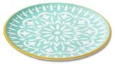 Mudhut Marika 10.5in Melamine Dinner Plate - Aqua/Gold