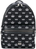 Dolce & Gabbana Volcano crown print backpack - men - Leather/Nylon - One Size