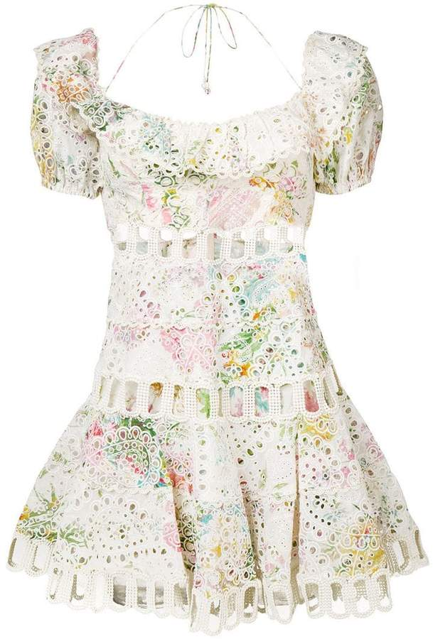 Zimmermann embroidered floral print dress
