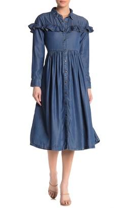 Free People Montana Sunset Midi Dress