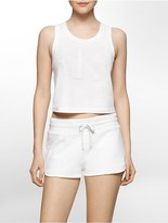 Calvin Klein Limited Edition Cropped Track Tank