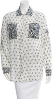 Pierre Balmain Printed Button-Up Top