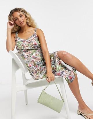 Vero Moda thigh split dress in white