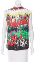 Cédric Charlier Sleeveless Printed Top