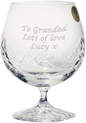 Personalised Crystal Brandy Glass