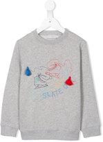 Stella McCartney ice-skate embroidered sweatshirt
