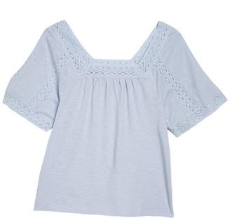 Caslon Lace Inset T-Shirt