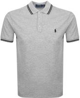 Ralph Lauren Tipped Polo T Shirt Grey