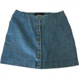 Reformation Blue Denim - Jeans Skirts