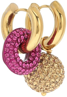 Timeless Pearly 24kt Gold-Plated Hoop Earrings