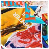 Moschino magazine print scarf