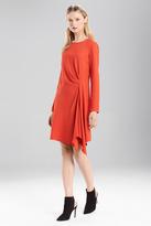Josie Natori Satin Back Crepe Dress
