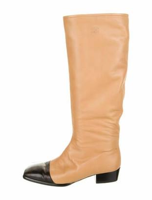 Chanel Vintage Interlocking CC Logo Riding Boots