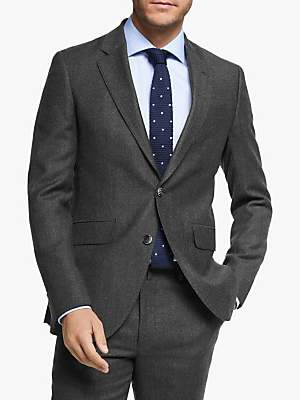 Hackett London Chelsea Textured Weave Tailored Suit Jacket, Dark Grey