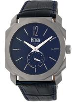 Reign Maximus REIRN4103 Men's Stainless Steel and Navy Leather Automatic Watch