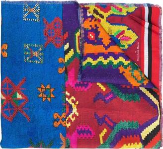 Pierre Louis Mascia Embroidered Silk Scarf