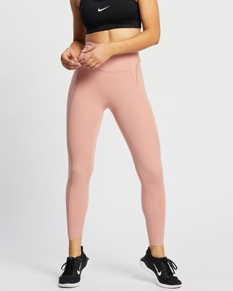 Nike Women's Pink Tights - Yoga Luxe 7-8 Tights - Size XS at The Iconic