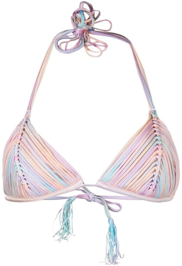 PQ Swim Tassel-Detail Bikini Top