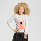 Cat & Jack Girls' Icon Pullover Cat & Jack - Light Heather Grey