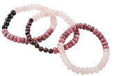 Barse Rose Quartz & Rhodonite Stretch Bracelet Set