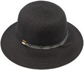 Cloche C.C Women's Sunhats black - Black Snake-Accent Straw