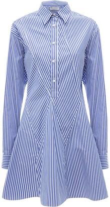 J.W.Anderson Godet-Hem Striped Shirt-Dress