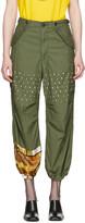 Junya Watanabe Green Studded Trousers
