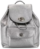Coach metallic drawstring backpack - women - Leather - One Size