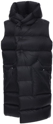 Rick Owens Sleeveless Nylon Puff Down Coat