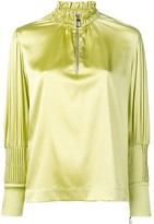 Each X Other pin tuck satin blouse