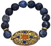 Lapis Devoted Jewelry Sodalite large Coral Tibetan Bracelet