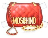 Love Moschino Paperdoll Cutout Leather Shoulder Bag