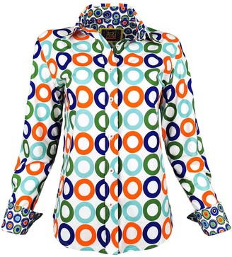 Lalipop Design Lycra Cotton Printed Shirt Circles