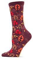 Hot Sox Brown Autumn Trees Crew Socks