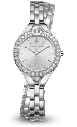 Timothy Stone Women 'Joliet Crystal Accented Quartz Double Wrapped Slim Bracelet Watch