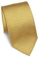 Salvatore Ferragamo Geometric Gancini Printed Silk Tie