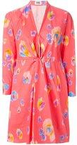 Sonia Rykiel Sonia By printed twist detail dress - women - Cotton/Polyester - 40