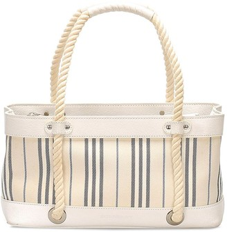 Burberry Pre-Owned Vertically-Striped Tote Bag