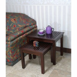 Winston Porter Sonoma Living Room Mahogany Wood Nesting Table, Set of 2 Winston Porter
