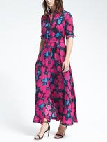Banana Republic Floral Maxi Shirt Dress