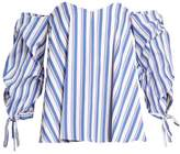 Caroline Constas Gabriella off-the-shoulder striped top