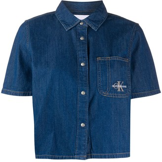 Calvin Klein Jeans Short-Sleeved Denim Shirt