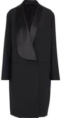 Acne Studios Lovis Satin-trimmed Wool And Silk-blend Coat