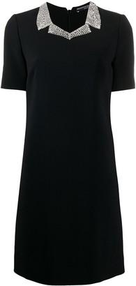 Ermanno Scervino Embellished Collar Shift Dress